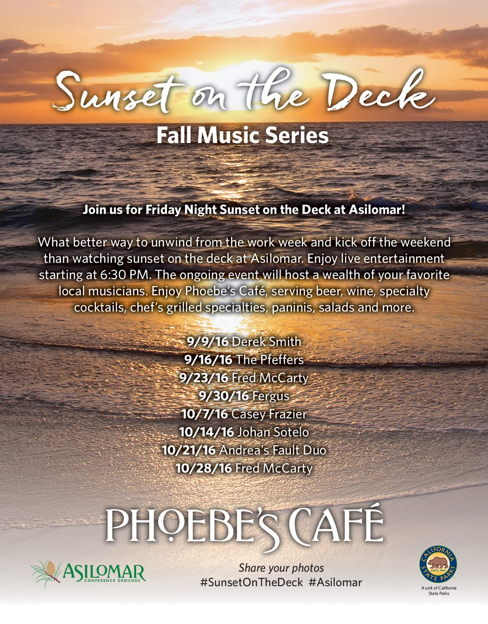 Sunset Music Series 2017 Pacific Grove Amp Monterey Events