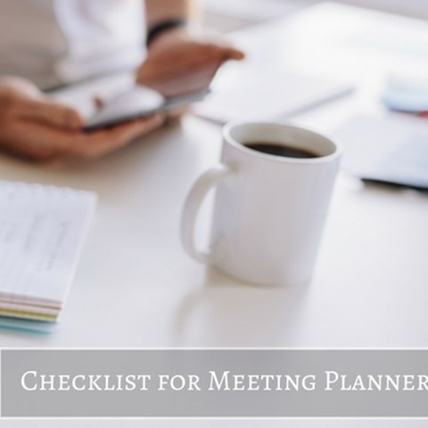 Checklist for Meeting Planners